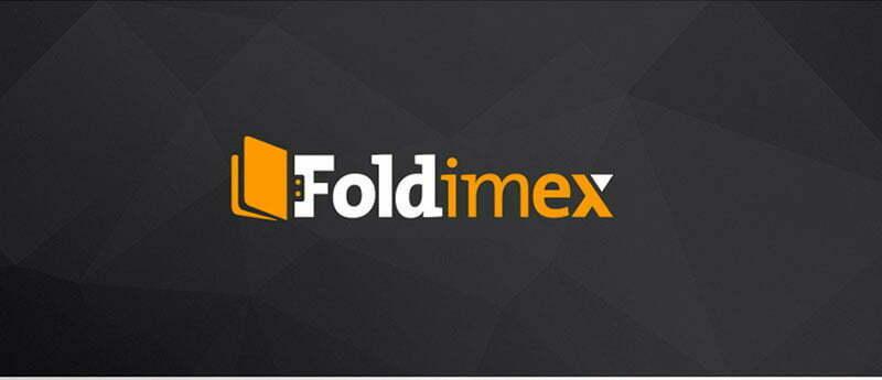 foldimex logo tasarımı siyah zemin