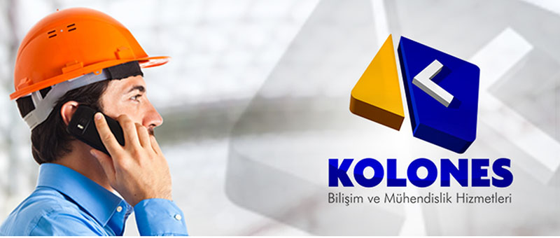 Kolones Mühendislik K harfi logo tasarımı