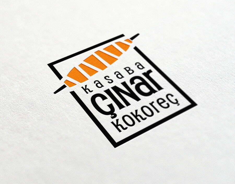 Çınar Kokoreç logosu. logo tasarımı