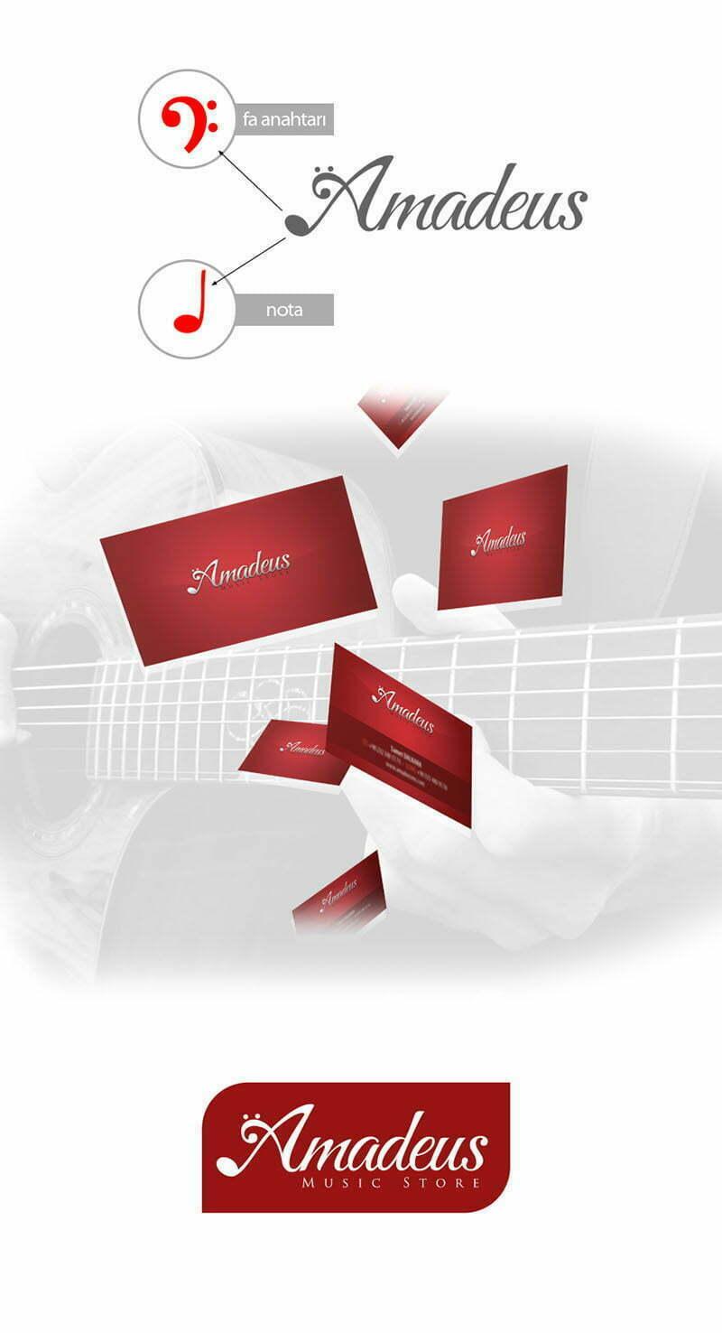 amedeus müzik merkezi music center logo tasarımı