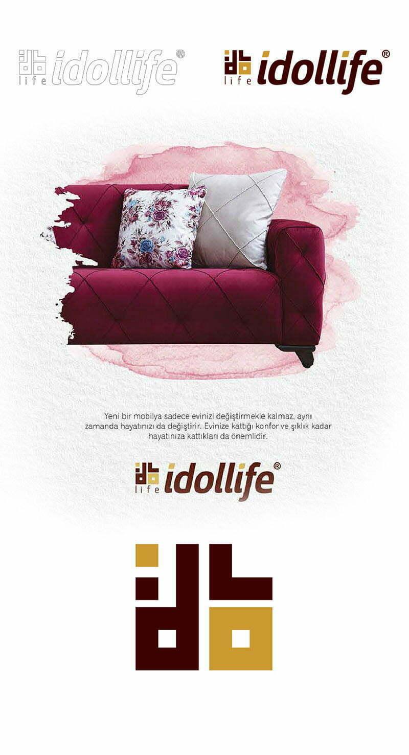 idollife mobilya logo tasarımı mobilyacı logosu