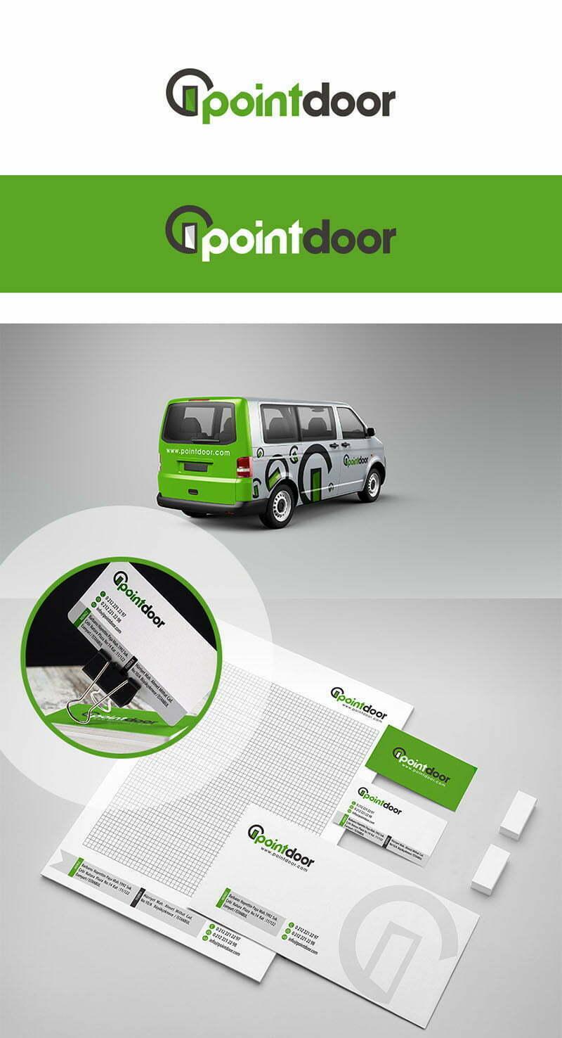 pointdoor kapı logo tasarımı uygulaması