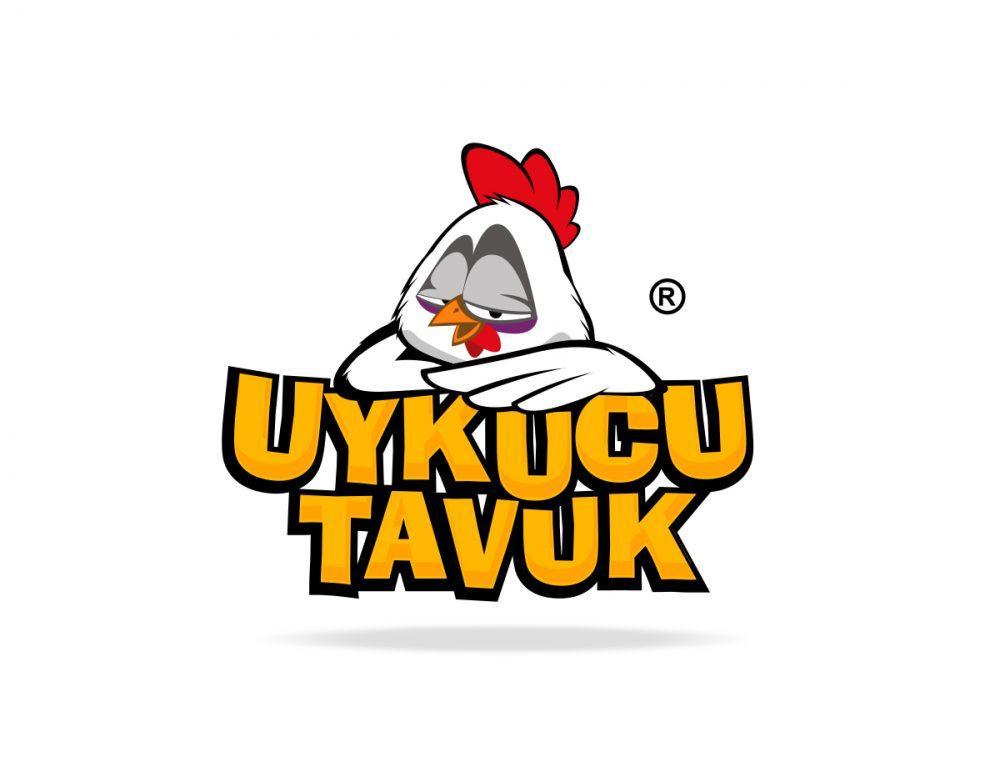 uykucu tavuk fastfood maskot tasarımı