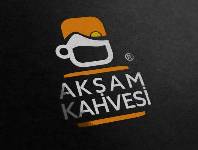 akşam kahvesi cafe kahve kafeterya logo tasarımı
