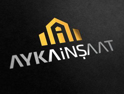 ayka insaat için a harfi logo tasarımı