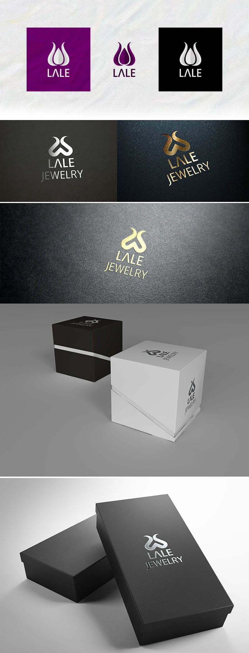 lale jewelry lale figürlü takı gümüş logo tasarımı