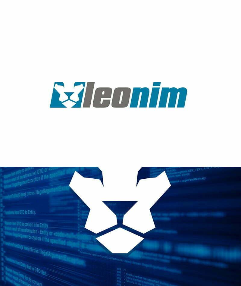 leonim bilişim yazılım firması aslan logo tasarımı
