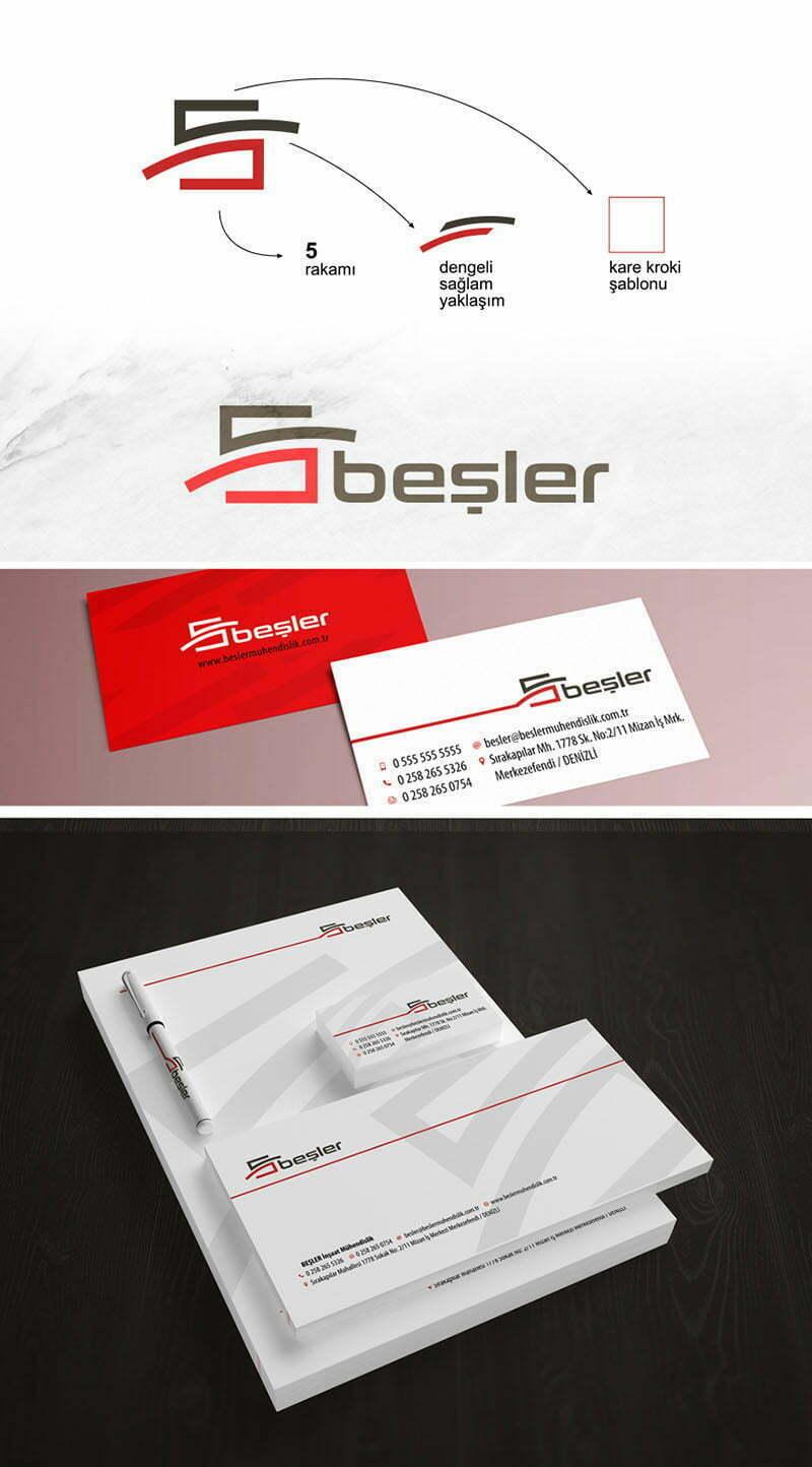 Beşler Yapı İnşaat Logo Tasarımı