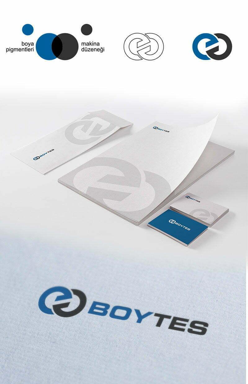 boytes boya üretim makineleri tesisi logo tasarımı