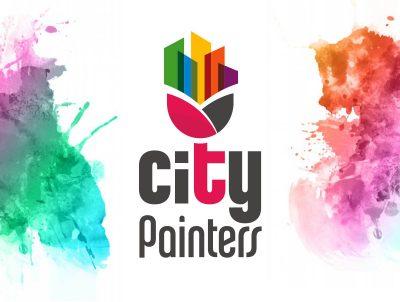 city painters boya fırça logo tasarımı