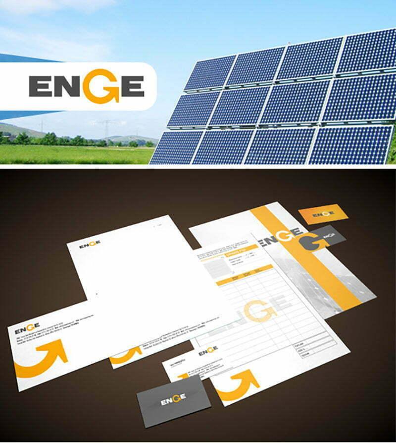 enge doğal temiz güneş enerji dönüşüm sistemleri logo kurumsal kimlik tasarımı