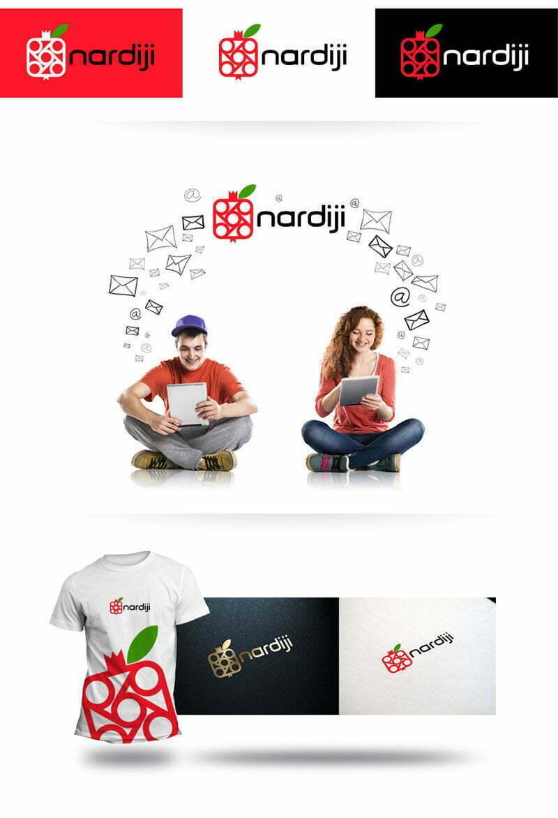 nardiji dijital sosyal medya nar logo tasarımı